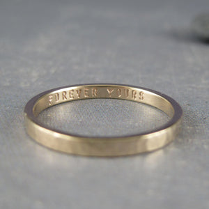 personalized gold band