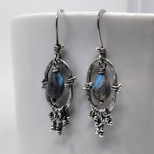 Artisan made sterling silver earrings with Labradorite