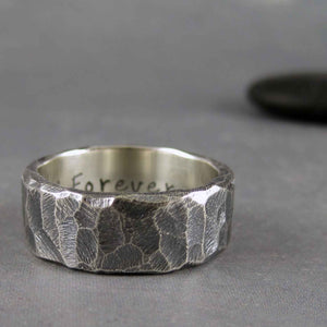mens rustic wedding band