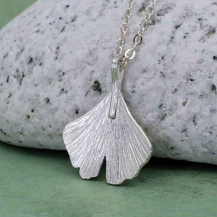 Small ginkgo leaf necklace