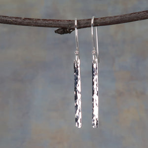 Hammered sterling earrings