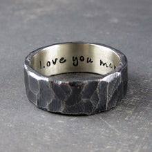 Personalized mens wedding band