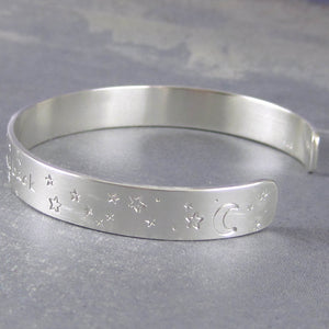 I love you inscription silver bracelet