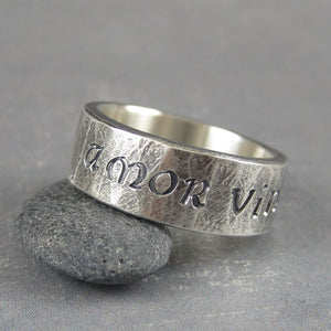 inscription sterling silver ring