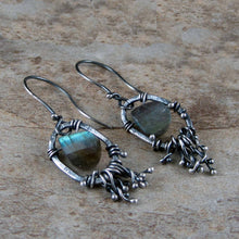 Unique labradorite earrings