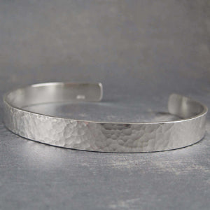Hammered sterling silver bracelet