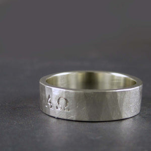 alpha omega ring in sterling silver
