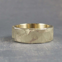 Unique mens gold band