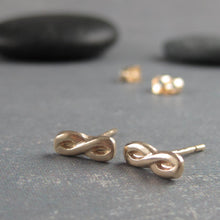 14k infinity symbol earrings