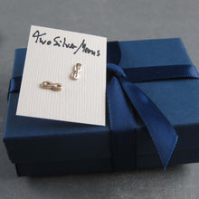 14k infinity earrings with packaging