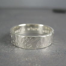Engraved men's wedding ring