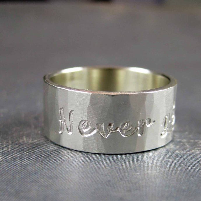 Never give up ring