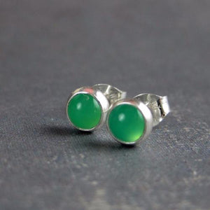 Chrysophrase stud earrings