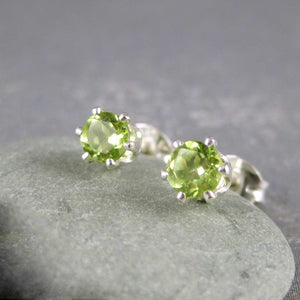 Green peridot earrings