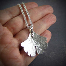 Ginko necklace handcrafted in silver