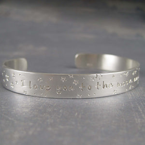 Sterling silver bracelet with love inscription
