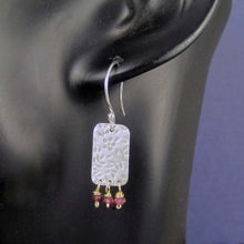 flower pattern earrings with gemstones