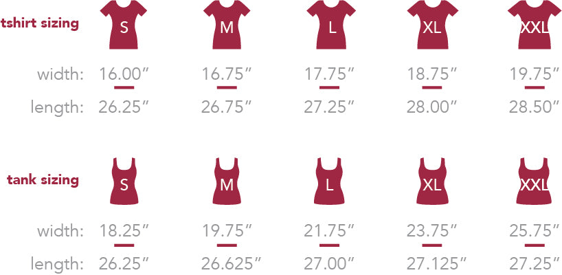 forever colorado co. women's size chart