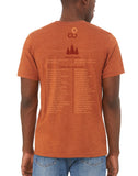 forever colorado co, common ground tshirt, state and national park list - back