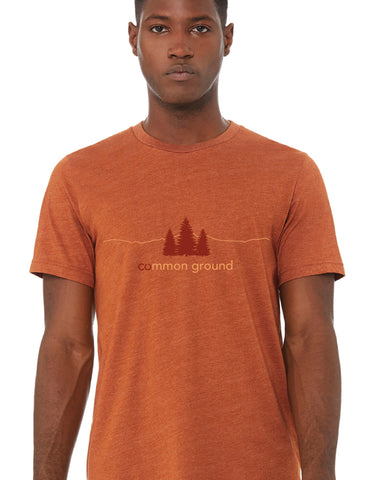 forever colorado co, common ground tshirt, state and national park list - front