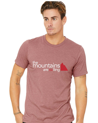 The Mountains Are Calling tshirt front - Forever Colorado Co.