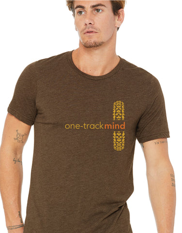 one track mind tshirt front - forever colorado co, top mountain bike trails in colorado