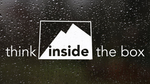 Think Inside the Box Sticker Decal - Forever Colorado Co.