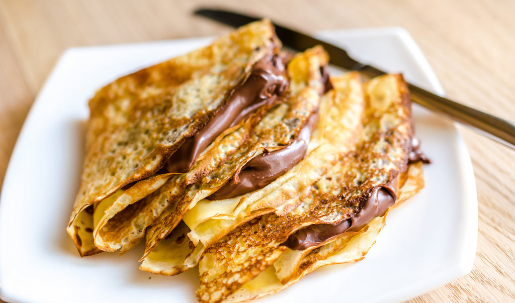 Vegan Chocolate Almond Butter Crepes
