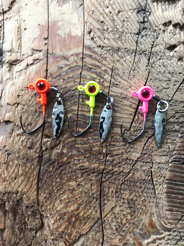 1/8oz Under Spin Jig Heads with Sickle Hook