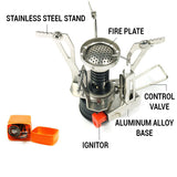 Self-Igniting Pocket Stove | FREE GIFTS: Pot & Pan, Silverware and Mesh Carry-All Bag