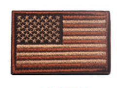 AMERICAN FLAG EMBROIDERED PATCH CAMO BROWN