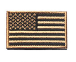 AMERICAN FLAG EMBROIDERED PATCH TAN