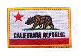 CALIFORNIA REPUBLIC EMBROIDERED PATCH