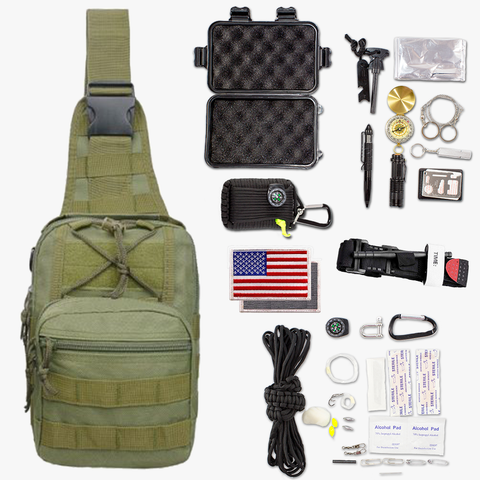 Image of 36-Piece Tactical Pack Survival Bundle Kit