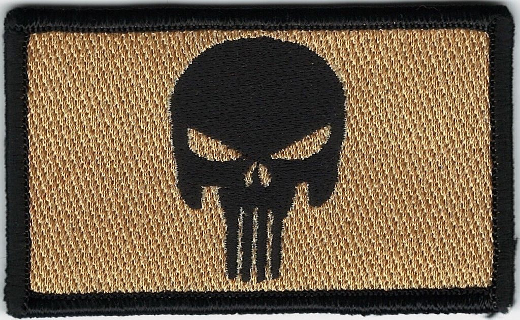 KHAKI PUNISHER SKULL PATCH