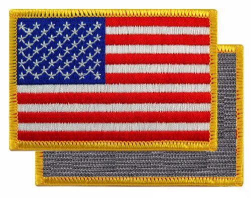 GOLD-BORDER AMERICAN FLAG PATCH
