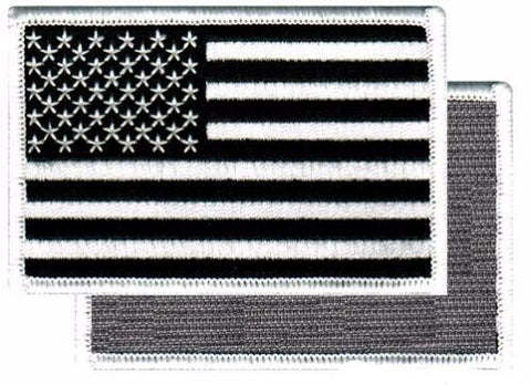 BLACK & WHITE AMERICAN FLAG PATCH