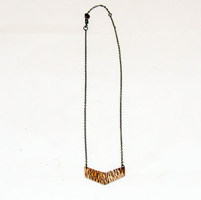 bRE Copper Chevron Necklace