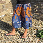 Asha Shanti culottes orange and blue