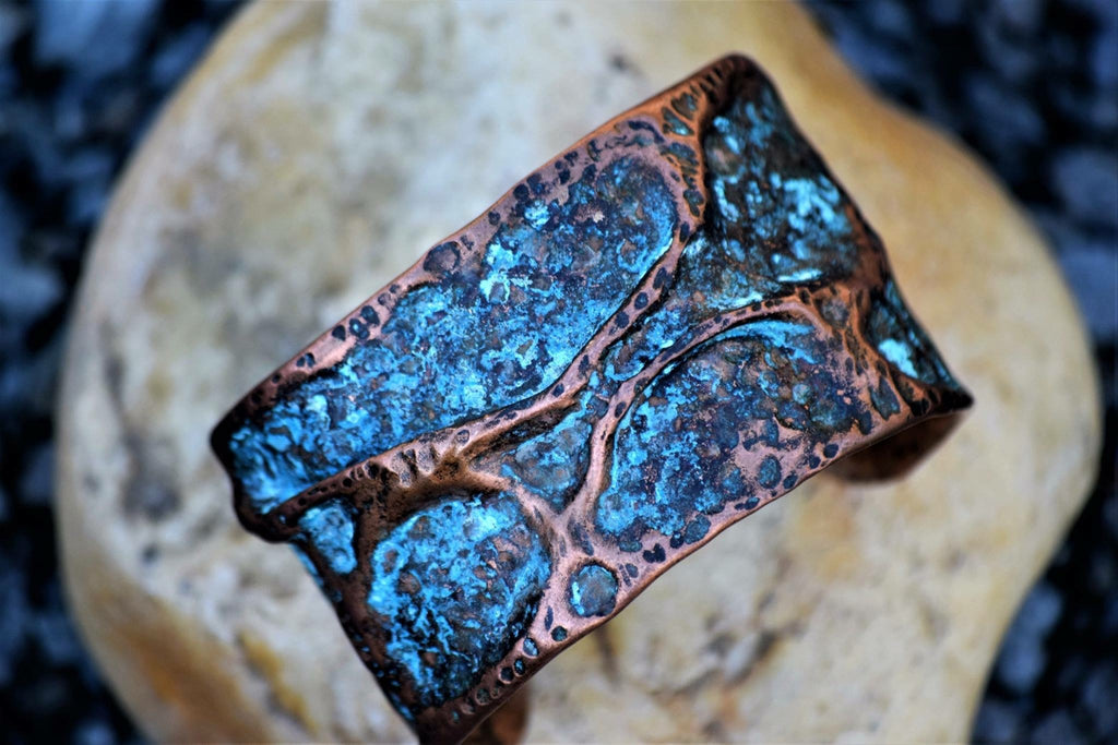 bRE Copper and Turquoise Cuff