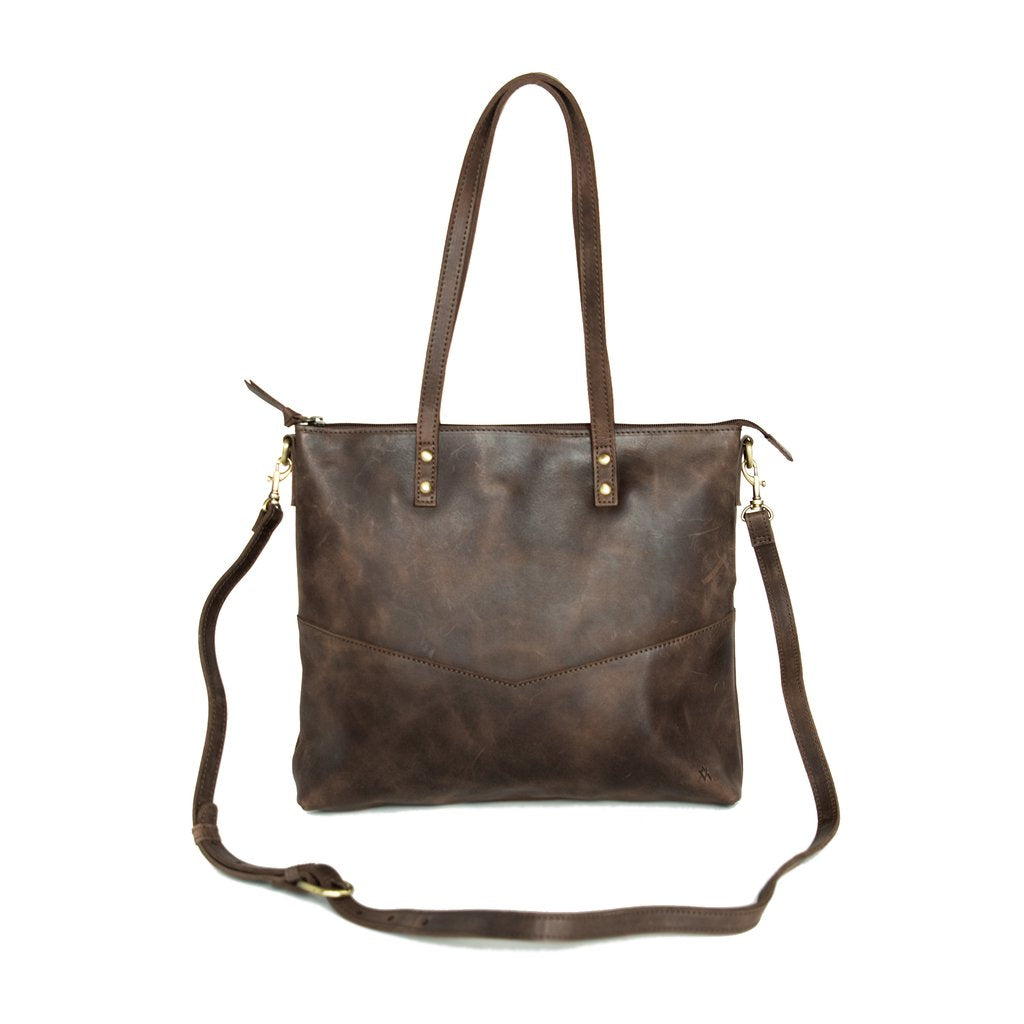 Leather-Tote, Mini Crossbody