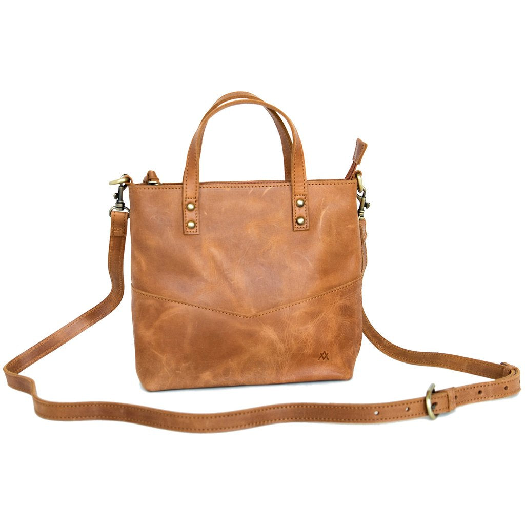 Leather-Tote, Mid-Sized Zipper