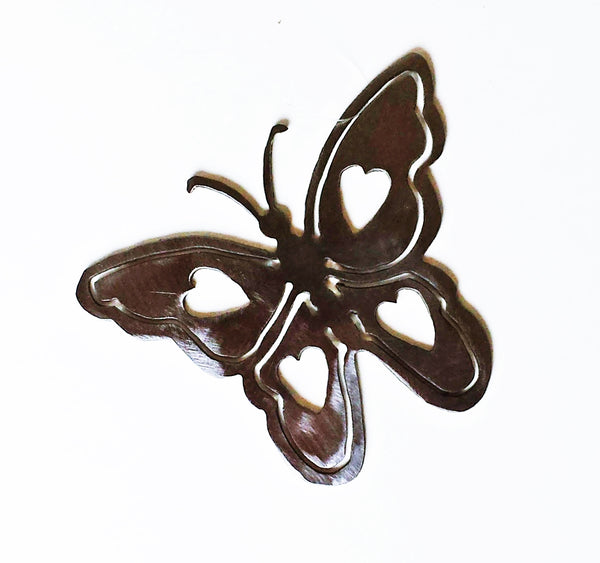 Dainty Heart Butterfly Silhouette Ornament Window Hanging - Cat Fly Designs