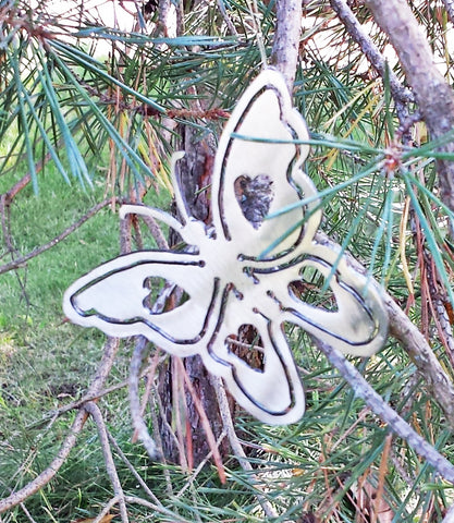 Plasma Cut Metal Butterfly Ornament