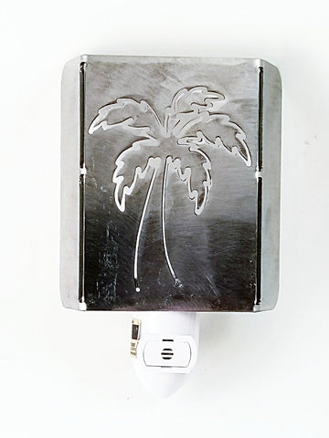 Plasma Cut Metal Palm Tree LED Night Light - Cat Fly Designs