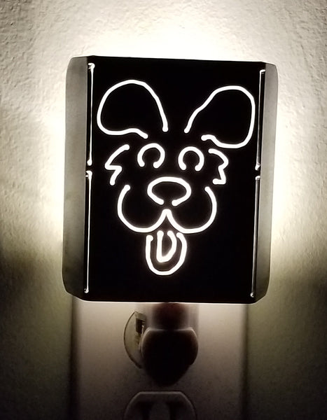 Plasma Cut Metal Happy Puppy LED Night Light - Cat Fly Designs