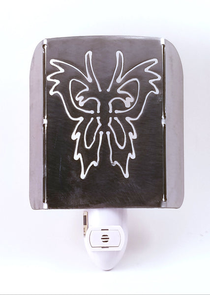 Plasma Cut Metal Butterfly LED Night Light - Cat Fly Designs