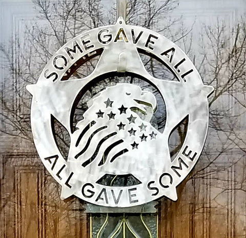 American Eagle Veteran Star Military Remembrance Wall Plaque Wreath