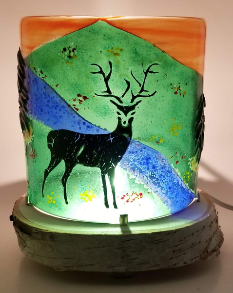 Glass table top night light