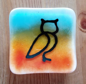 Fused Glass Ring Holder